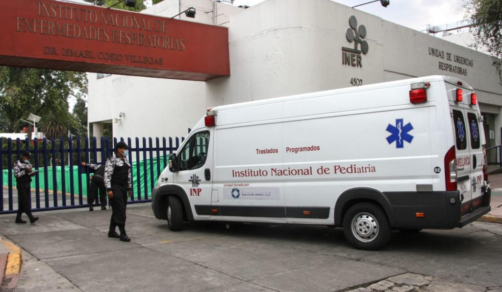 Exterior del INER después de la reconversión hospitalaria