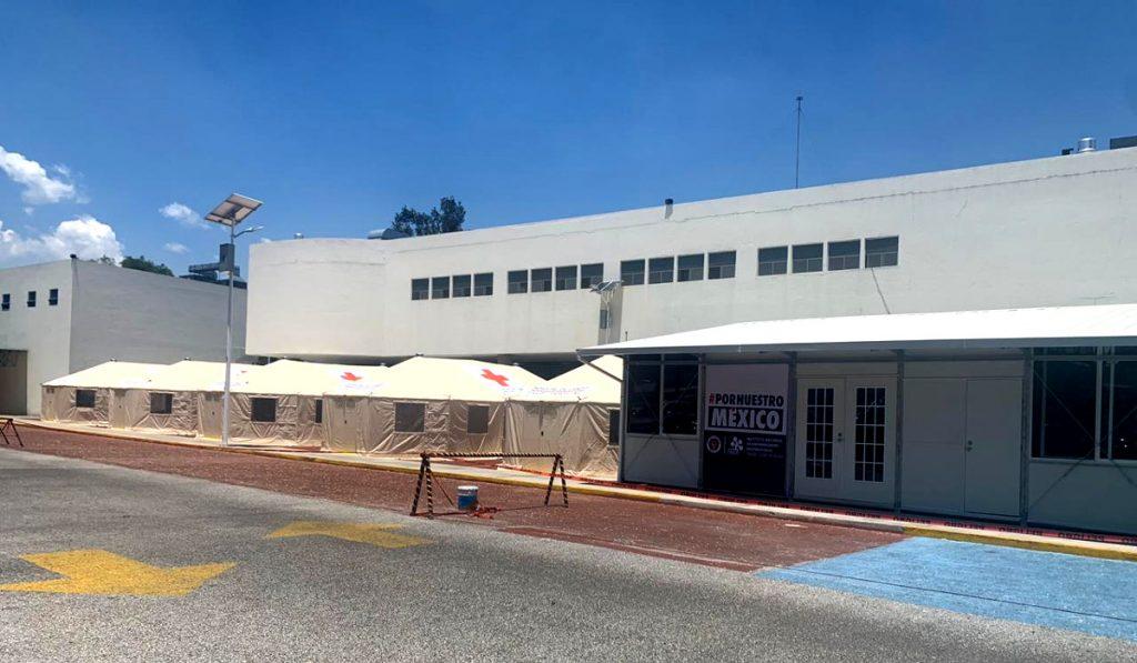 Hospital de campaña en el INER