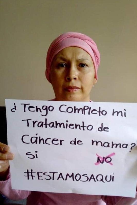 pacientes con cáncer de mama, protesta por falta de medicamentos, seguro popular