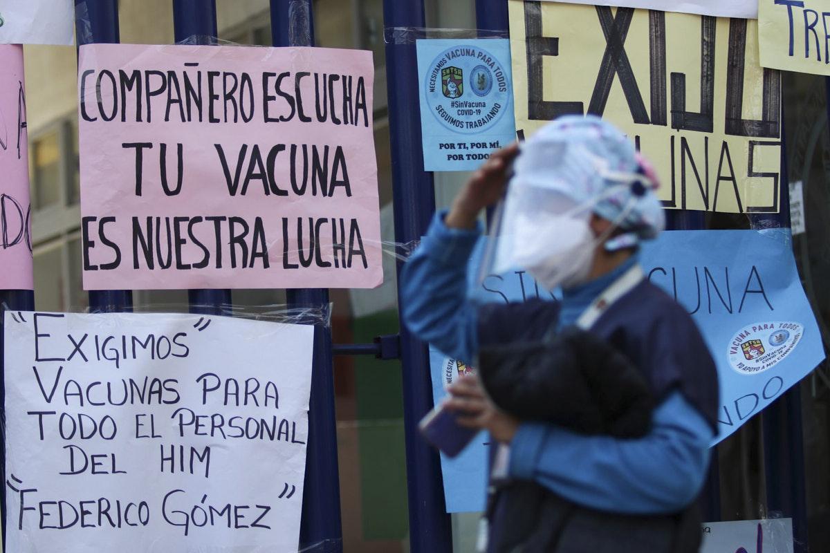 personal sanitario, protesta, vacuna, coronavirus, Hospital Infantil