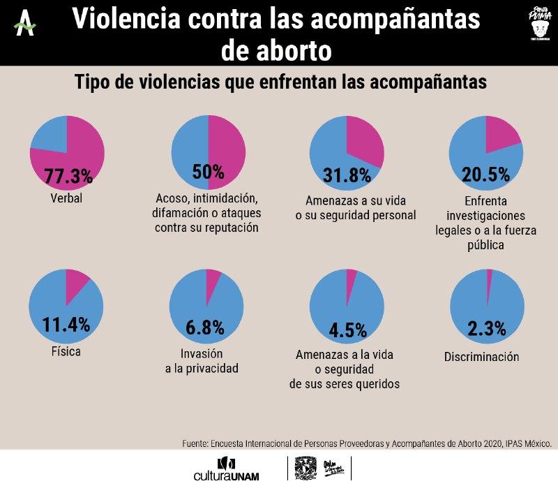 violencia, acoso, criminalización de acompañantes de aborto