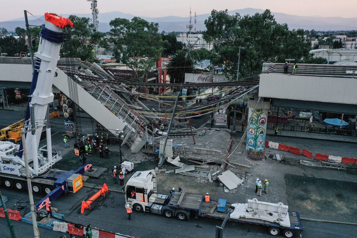 Avenida Tláhuac tras desplome de la Línea 12