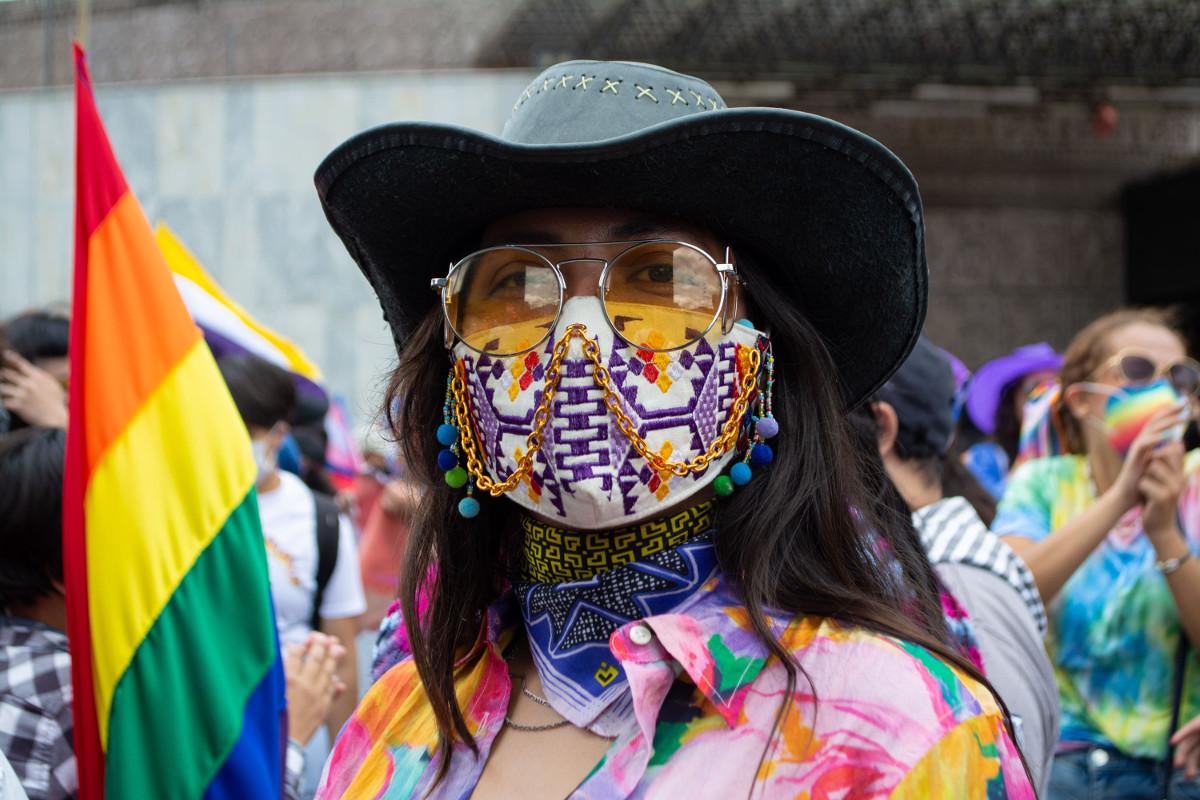 Marcha lencha en la Ciudad de México