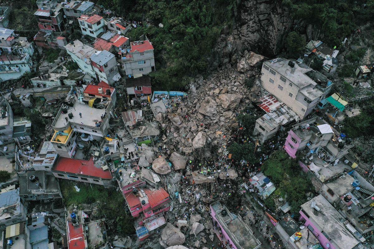 Derrumbe del Cerro del Chiquihuite en Tlalnepanbla