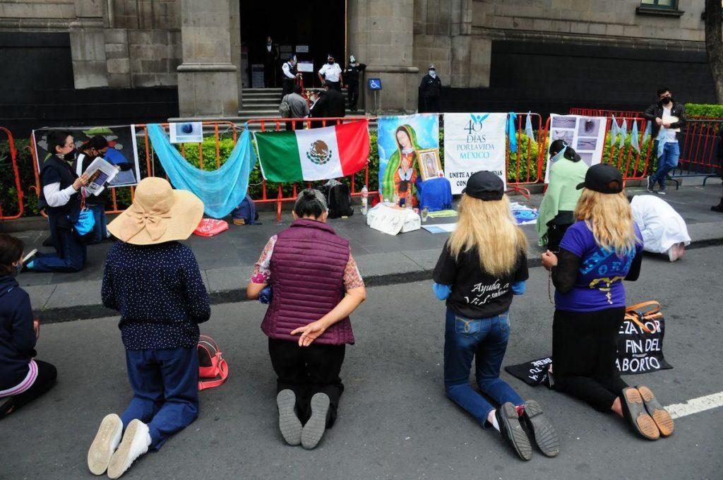 Protesta Despenalización del Aborto, Suprema Corte de Justicia, protesta de personas antiderechos