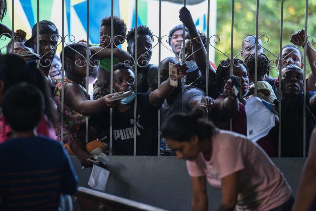 Migrantes haitianos en Chiapas